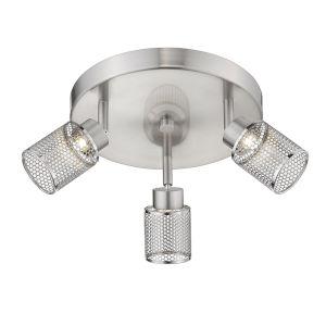 Temmar Brushed Nickel Three-Light LED Flush Mount