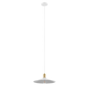 Bridport-P White and Gold One-Light Pendant
