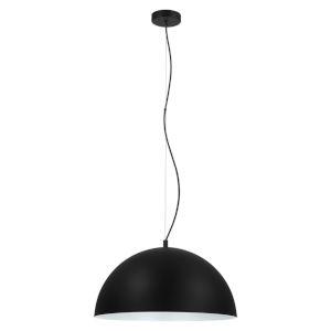 Rafaelino Black and White One-Light Pendant with Black and White Metal Shade
