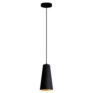 Pratella 1 Black and Gold One-Light Pendant