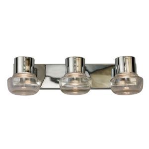 Belby Silver Three-Light LED Bath Vanity
