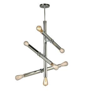 Drucker Silver Seven-Light Pendant