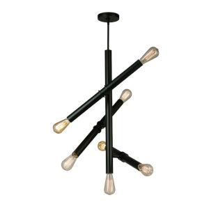 Drucker Black Seven-Light Pendant