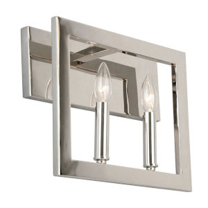 Jordan Silver Two-Light Bath Vanity