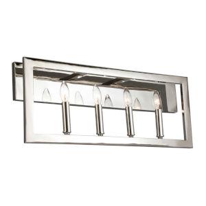 Jordan Silver Four-Light Bath Vanity