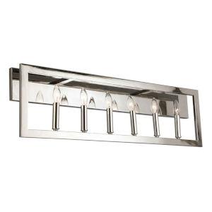 Jordan Silver Six-Light Bath Vanity