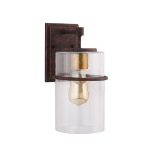 Brandel Rust Eight-Inch One-Light Outdoor Wall Sconce