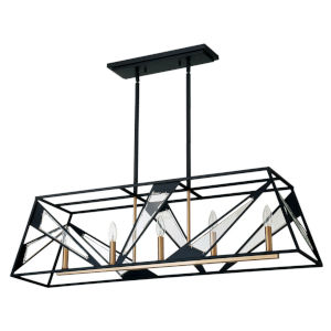 Corrietes Black Five-Light Pendant