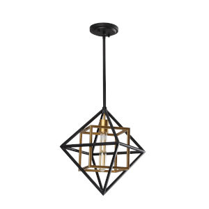 Pryor Black and Gold One-Light Pendant
