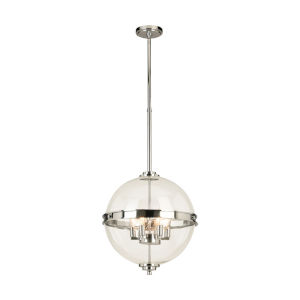 Cecilia Chrome Five-Light Pendant