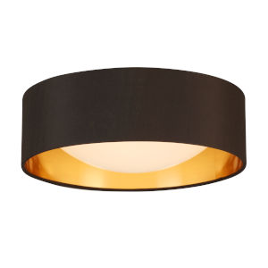Orme Black and Gold LED 12-Inch Flush Mount