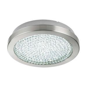 Arezzo 2 Silver 11-Inch LED Flush Mount