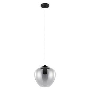 Priorat Black 9-Inch One-Light Mini Pendant with Smoked Glass Shade