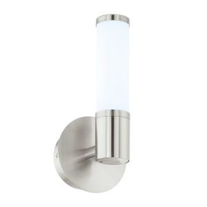 Palmera 1 Satin Nickel LED Bath Sconce
