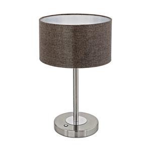 Romao 2 Satin Nickel and Chrome LED Table Lamp