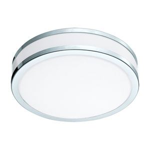 Palermo 2 Chrome and White LED Flush Mount