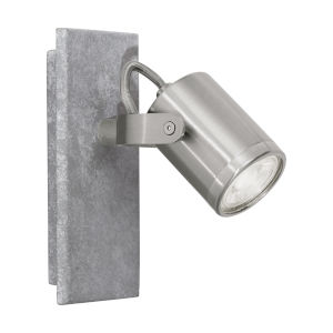 Praceta Concrete Gray, Matte Nickel and Chrome Six-Inch LED Wall Sconce