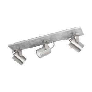 Praceta Concrete Gray, Matte Nickel and Chrome Four-Inch Three-Light LED Track Light