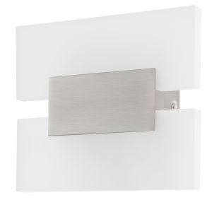 Metrass 2 Silver Two-Light LED Wall Sconce