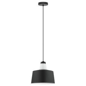 Tabanera Black and White One-Light Pendant