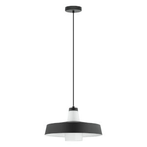 Tabanera Black and white 14-Inch One-Light Pendant