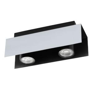 Viserba Aluminum and Black Four-Inch Two-Light LED Track Light