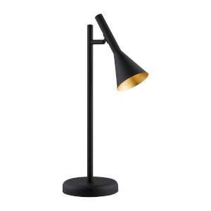 Cortaderas Black One-Light Table Lamp with Black Exterior and Gold Interior Shade