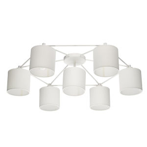 Staiti White 33-Inch Seven-Light Flush Mount