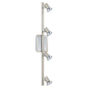 Skater Matte Nickel and Chrome Four-Light Track Lighting Package