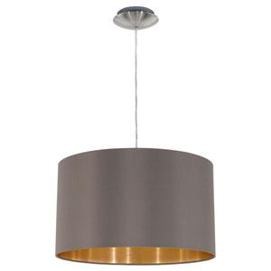 Charlotte Satin Nickel One-Light Pendant