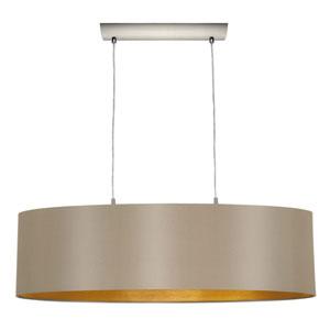 Charlotte Matte Nickel Two-Light Pendant