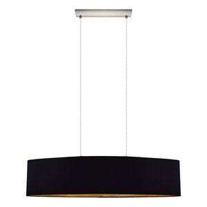 Charlotte Satin Nickel Two-Light Linear Pendant