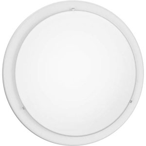 Brink White Two-Light Flush Mount