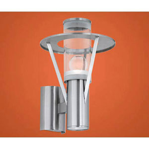 George Stainless Steel One-Light Outdoor Wall Lantern