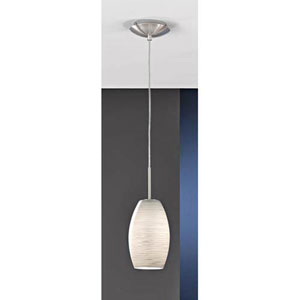Kate Matte Nickel One-Light Mini Pendant
