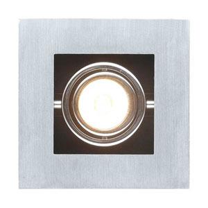 Tufts Brushed Aluminum, Chrome and Black One-Light Spot Light