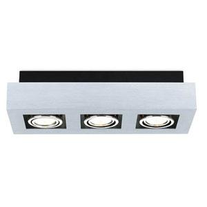 Tufts Brushed Aluminum, Chrome and Black Three-Light Spot Light