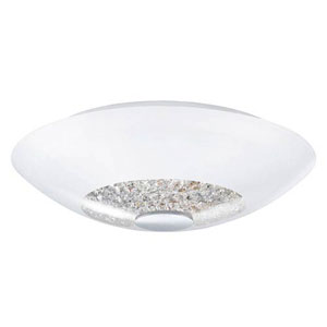 Indie Chrome 13-Inch Two-Light Semi-Flush Mount
