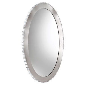 Hesley Chrome Nine-Light LED Bathroom Wall Mirror