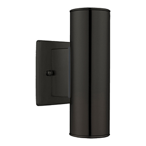 Riga Matte Black Two-Light Outdoor Wall Sconce