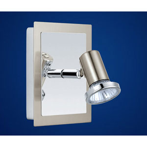 Rottelo Matte Nickel and Chrome Adjustable Wall or Ceiling Light