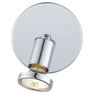 Buzz Chrome One-Light Wall Track Light