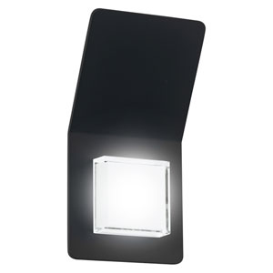 Pias LED Black Two-Light Outdoor Wall Sconce