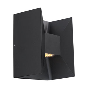 Morino LED Matte Black Two-Light Outdoor Wall Sconce