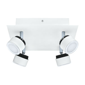 Armento White and Black 9.5-Inch Four-Light LED Track Light