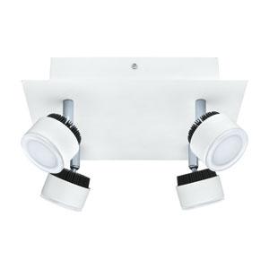 Armento White and Black 9.5-Inch Four-Light LED Track Light