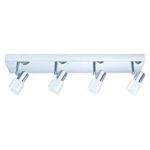 Nocera Chrome Four-Light LED Track Light