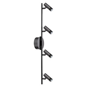 Lianello LED Black Chrome Four-Light Track Light