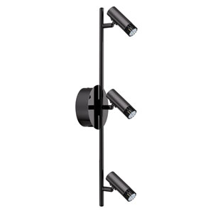 Lianello Black Chrome 23-Inch Three-Light LED Track Light