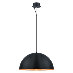 Gaetano LED 24-Inch Black and Gold One-Light Pendant